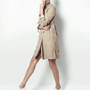 J Crew Belted Button Down Trench Coat